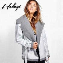wedding photo - 2017 new ladies stylish cool warm in winter-skin jacket - Bonny YZOZO Boutique Store