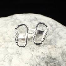 wedding photo - Functional Carabiner Cufflink Sterling Silver Rock Climbing Jewelry (Pair) CFL-222-S-B