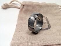 wedding photo - 8-12mm Viking Wedding Ring / Men's Rugged Band / Silver Pewter Band / Guy's Fashion / Tree Bark / Rustic Jewelry / Unique Gift for Him