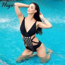 wedding photo - Sexy Casual Holiday Black Strappy Top Swimsuit Bikini - Bonny YZOZO Boutique Store