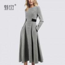 wedding photo - 2017 new autumn and winter long sleeve dress in long waist socket t-a-dress women's clothing - Bonny YZOZO Boutique Store