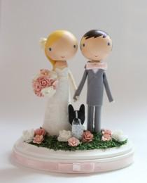 wedding photo - custom wedding cake topper - standard base