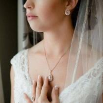 wedding photo - Morganite Earrings Blush Bridal Jewelry Rose Gold Bridesmaid Jewelry Blush Rose Gold Bridal Jewelry Vintage Pink Bridal Earrings Rose Gold