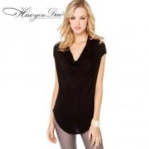wedding photo - Oversized Vogue Slimming Plus Size Trendy Short Sleeves T-shirt - Bonny YZOZO Boutique Store