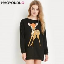 wedding photo - Sweet Student Style Printed Cute Casual 9/10 Sleeves Hoodie Essential - Bonny YZOZO Boutique Store