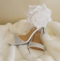 wedding photo - Ice Princess Rhinestone Crystal Cinderella Bridal Wedding Heels