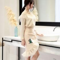 wedding photo - Attractive Fringe Sheath It Girl Outfit Twinset Top - Bonny YZOZO Boutique Store
