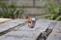 wedding photo - Rose Gold Tungsten Band, Wedding Band, Mens Wedding Band, Wedding Band for Men, Mens Ring, Rose Gold Ring, Wedding Band Mens, Tungsten Band