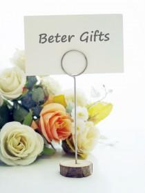 wedding photo -  حامل بطاقات - من الخشب، تناسب الحفلات، بتصميم مميز Beter Gifts®  الدفع عند الاستلام