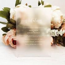 wedding photo - Bespoke Perspex Wedding Invitation