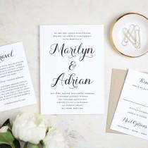 wedding photo - Instant Printable Wedding Invitation Template