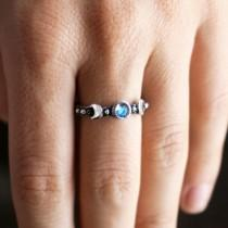 wedding photo - Moonstone ring