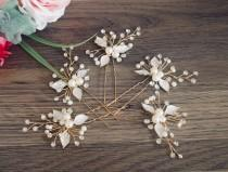 wedding photo - Wedding Hairpin Bridesmaid Hair Accessories Wedding HaIr Accessories Bridal Comb Rose Gold Hair Comb Bridal Headpiece Bridesmaid Hair Pins