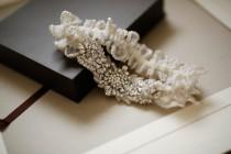 wedding photo - Designer wedding garter set - Style G02 (Made to Order)