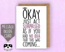 wedding photo - Will You Be My Bridesmaid Request Card, Be My Maid Of Honor, Maid Of Honour, Matron Of Honor, Act Surprised, Bridal Proposal - Z029