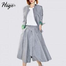 wedding photo -  Vogue Attractive Slimming Casual Twinset Wide Leg Pant Belt Suit - Bonny YZOZO Boutique Store