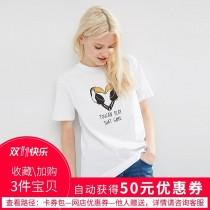 wedding photo -  Must-have Vogue Printed Slimming Alphabet Animals Summer Playful Casual Short Sleeves T-shirt Top - Bonny YZOZO Boutique Store