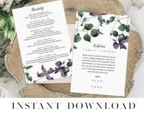 wedding photo - Itinerary Printable, Editable pdf, INSTANT DOWNLOAD, Wedding Welcome Bag Note, Printable Wedding Itinerary, Agenda, Whats On Note, EMPIRE