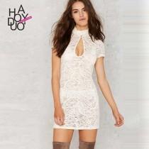 wedding photo -  Vogue Hollow Out Crochet Slimming Lace Summer Dress - Bonny YZOZO Boutique Store