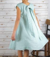 wedding photo - Linen Dress/Washed/ Textured/100% LINEN/LINEN dress/#LD1701