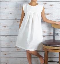 """wedding photo - Linen Dress/ All season dress/Washed/ Textured/100% LINEN/LINEN dress/long tunic/long top/#LD1704/Length: 34.5"""""""