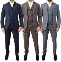 wedding photo - Mens tweed 3 piece SUIT