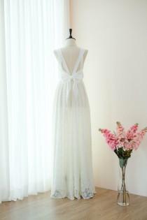 wedding photo - Off white dress White lace dress Long Bridesmaid dress Wedding Dress Long Prom dress Party dress Cocktail dress Maxi dress Evening Gown