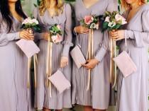 wedding photo - Suede Bridesmaids Gift Set, Set of Medium Bridesmaids Leather Bags, Bridal Party Gift, Bridesmaid Clutch, Leather Clutch Bag, Wedding Gift