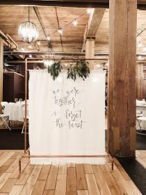 wedding photo - Cloth Wedding Backdrop , Cloth Banner, Custom Banner, Wedding Banner, I Love You I Forget the Rest, Custom Handlettered Banner, Quote Banner