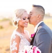 "wedding photo - Bridal Birdcage veil,Blusher veil 9"" French/Russian Net Veil.White-vory-birdcage veil Bandeaue style w Lace fascinator Diamonte Pearls"