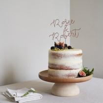 wedding photo - Script Name Topper, Wedding Cake Topper, Unique Cake Toppers, Gold Name Topper, Wire Cake Topper, Custom Cake Topper, Cake Topper Letter