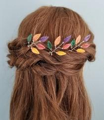 wedding photo - Autumn Leaf Hair Pins (Set of 3)