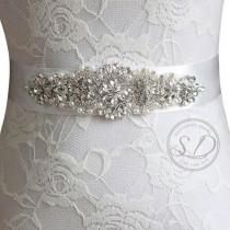 wedding photo - Bridal belt embellishment belts Crystal Rhinestone Pearl Bridal Sash belt Crystal Wedding sash belt crystal applique Wedding Dress belt