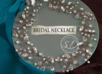 wedding photo - silver vine necklace Wedding Pearl Crystal Choker Vintage Bridesmaids Prom Beaded Necklace pearl back rhinestone necklace mother girt