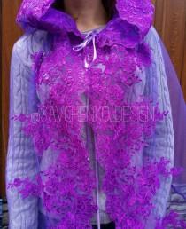 wedding photo - Purple catolic chapel veil with hood