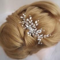 wedding photo - Bridal hair comb Bridal Headpiece Crystal Bridal Hair Piece Cristal Bridal Headpiece Crystal Wedding Hair Piece Wedding hair comb