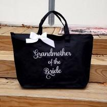 wedding photo - Personalized Mother of the Bride Tote Bag Mother of the Groom Wedding Tote Grandmother of the Bride or Groom MOB MOG Monogrammed Gifts