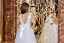 wedding photo - Flower Girl Dress, Tutu Flower Girl Dress, Flower Girl Dresses, Tulle Flower Girl Dress, Wedding Girl Dress, Tutu Wedding Dress, Satin Dress