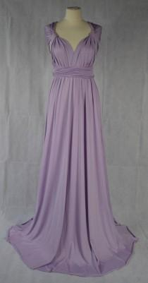 wedding photo - Bridesmaid Dress Multiway Dress Convertible Dress Twist Wrap Dress Infinity Dress Wedding Prom Evening Lilac One Size Fits All