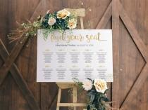 wedding photo - Wedding Seating Chart Template, Table Seating Plan, Wedding Sign, Wedding table plan, Seating Chart Gold, Find Your Seat Sign