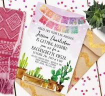 wedding photo - Fiesta Bachelorette Invitation
