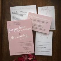wedding photo - Foil Names Wedding Invitation Suite / Wedding RSVP Cards, Envelopes and More Included / AV8557