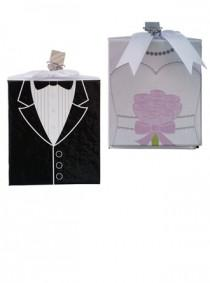 wedding photo -  Beter Gifts® Side by Side Groom And Bride Photo Album Wedding Favors