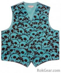 wedding photo - RokGear design Skull Vest Waistcoat - LIMITED