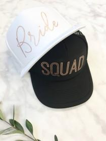 wedding photo - Bridal Party Hats, Bachelorette Hats, Rose Gold Hats, Squad Hats, Bride Hat, Bridesmaid Hats, Bachelorette Party,