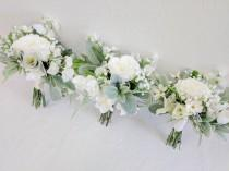 wedding photo - Wedding Bouquet, Bridesmaid Bouquet, Wedding Flowers, Silk Flower Bouquet, Silk Flowers, Bouquet, Flower Bouquet, The Faux Bouquets