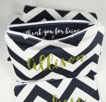 wedding photo - Thank you for being my Bridesmaid Gift - Maid of Honor - Monogram Makeup bag - Personalized - Thank you Gift - Mother of Groom Gift - Medium