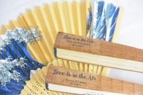 wedding photo - Wedding Fan Label, Hand Fan Label,Program Fan label,Personalized Fan Sticker,Custom Label Fan, Clear Wedding Label, Personalized Clear Label