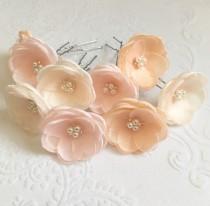wedding photo - Small hair flowers