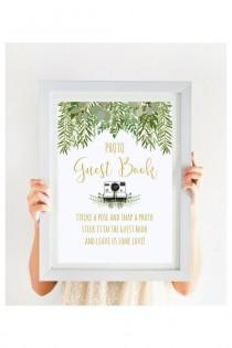wedding photo - Wedding Photo Guest Book Sign, Greenery Wedding Sign, Garden Wedding, Beach Wedding, Gold Wedding Printable, Instant Download, #IDWS604_10AS